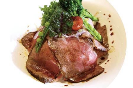 ランチ限定 サーロインローストビーフ丼 ¥1,000(限定1日/10食)