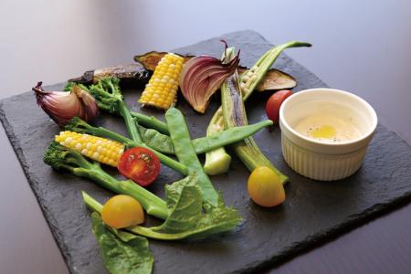 【ディナー】地野菜のバーニャカウダ650円